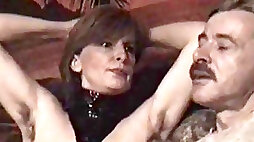 German mature femdom- gimp must munch her wooly armpits