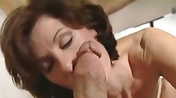 Classic MILF Pornstar Worships Very Thick Throbbing Dick