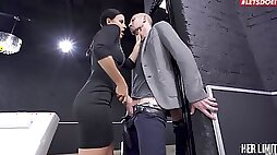 Deep anal sex during nasty femdom tryout