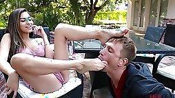 Naughty vixen crazy foot fetish porn