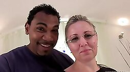 Czech mature gets her first BBC - interracial hardcore with cumshot