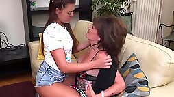 Annabelle More and Melody Charm Hot Lesbian Sex