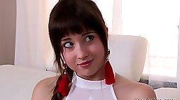 Russian porn video Teacher Fucks Shy Teen Girl Taissia Shanti