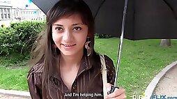 Tricky casting with a petite teen Shrima Malati
