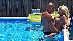 Sexiest Bikini Fuck Ever Pt 2. Hooters Stepmom Fucks Fit Son In Pool