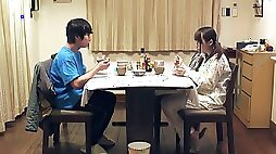 Japanese brother-in-law pounds step-sister