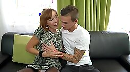 Mature pussy tastes so good on his eager tongue