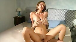 Big titted hottie fucked by her ugly uncle