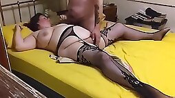 Bbw in stockings cumming with toys