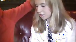 Shy teen blonde in pickup fuck video
