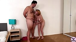 Ugly freak daddy and horny slut