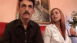 Scarlett Pain - Emo Young Girl gets Deepthroated and gagged by OLD MAN MALE STICK! (Classic scene)