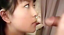 Little Japanese Teen Enjoys