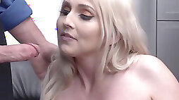 Big Tits Blonde Big arse milf Stepmom Cashier Christie Stevens plowed By Security After Shoplifting Stepson Has Stolen Merchandise