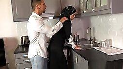 Kitchen muslim fuck