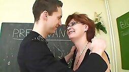 Ajx mom teacher lesson son 76