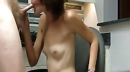 Slim emo chick turns out to be a skilled cock sucker
