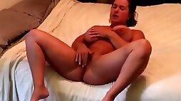 Horny muscle girl 4 masturbation orgasms