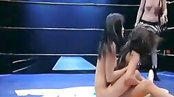 Hot scenes of naked women wrestling for real