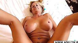 Lovely Step-Mom Sandra Suck Hard Her Step son