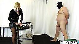 Blonde mistress punishment