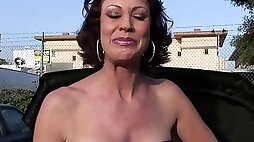 Mature mommy seriously ass fucked & throat fucked on camera