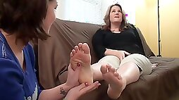 Teacher sweaty dry foot worship