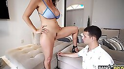 Nice pussy eating makes Alexis Fawx wet and she demands to ride
