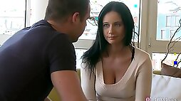 Gentle fucking in missionary and doggystyle with girlfriend Enza