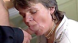 Swedish GILF Martha Karlsson fucks the priest (2 scenes)