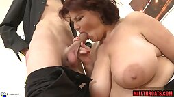 Big breast mother i´d like to fuck titty hump with jizz on knockers