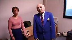 Ugly Lady Fucks And Licks Old Man's Ass