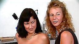 German Mommy teaches German Girl - Lesbian Sex