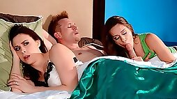 Good-looking chicks Cassidy Klein and Chanel Preston are sucking with love