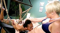 Experienced doctor is sure that BDSM will cure Ebony girl quickly
