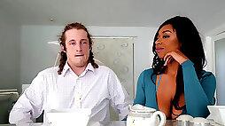 Ebony Nola Blu fucking bfs best friend right in front of him
