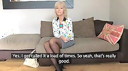 Mature blonde is hungry for sex