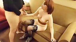 Wife whored out to stranger cuckold watches creampie spitro