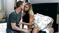 Seductive blonde with fake boobs Jessa Rhodes is fucked in her anus