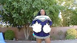 Honey Bunn is a cheerleader with a big ass who wants to fuck