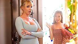 Awesome angels Dana DeArmond and Vina Sky enjoy lesbian games