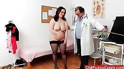 BBW mature in for her yearly gyno exam