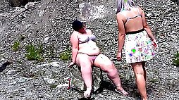 A g/g with a sugary-sweet PHAT ASS WHITE GIRL washes her homies hefty puss, and then slurps her snatch, makes cuni until a clitoral climax. Deep Throat fuck-a-thon outdoors.