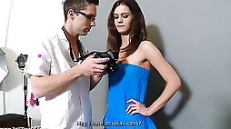 Sensual slim teen Kelly Jai cheats with another nerd lover