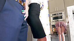 Synthia Fixx seducing Johnny Castle behind his wifes back