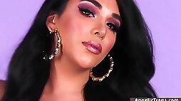 Steamy TS latina bareback nail by big knob