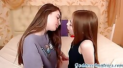 Enrapturing teenie dykes determined to meet up and make enjoy wth each other, until they both spunk