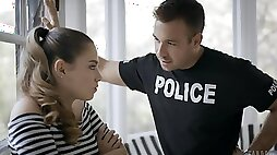 Cop fucks teenager and grants her insane orgasms